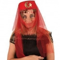 Chapeau dame harem rouge