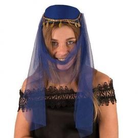 Chapeau dame harem bleu