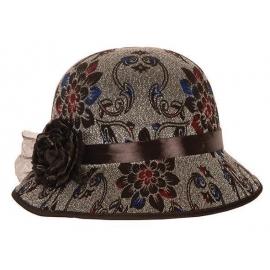 Chapeau dame feutre noir avec plumes