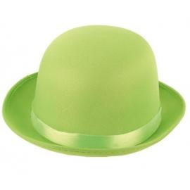 Haut de forme satin vert