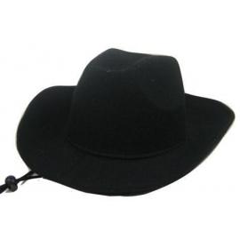 Chapeau cowboy simili cuir noir