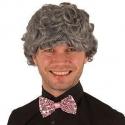 Perruque homme frisé grise