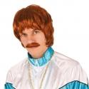 Perruque homme rousse + moustache