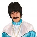 Perruque homme noire + moustache