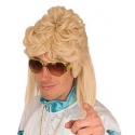 Perruque homme mullet blonde