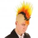 Crâne punk jaune et rouge