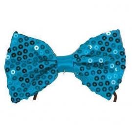Noeud papillon paillettes bleu