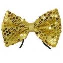 Noeud papillon paillettes or