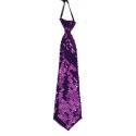 Cravate paillettes violette