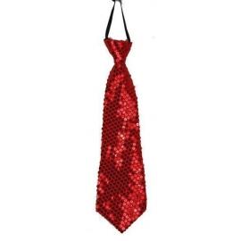 Cravate paillettes rouge
