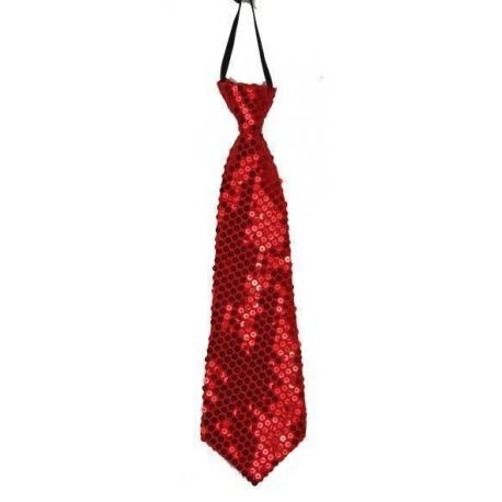 Cravate paillettes rose