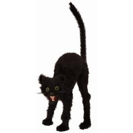 Décoration chat noir 28cm