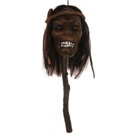 Tête décapitée fil barbelé - Décoration Halloween