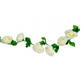 Guirlande roses blanches 220cm