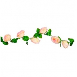 Guirlande roses roses 220cm