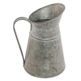 Pot à lait zinc avec couvercle 9x22cm