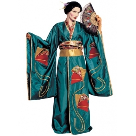 Location costume Geisha verte