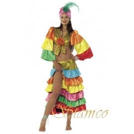 Location costume danseuse brésilienne verte