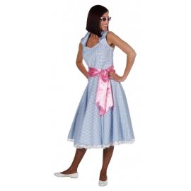 Location costume robe 50's vichy bleu
