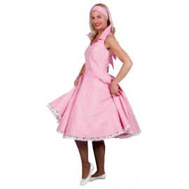 Location costume robe 50's vichy rose