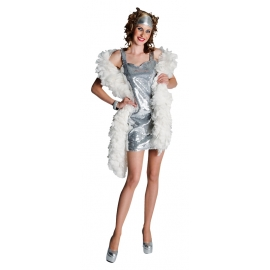 Location robe disco paillettes or