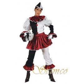 Pierrot femme bordeaux
