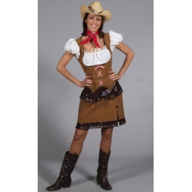 Location costume Cowgirl cuir marron