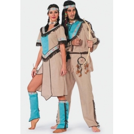 Location costume Indien aqua
