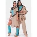 Location costume Indien aqua