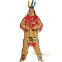 Location costume Indien rouge