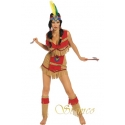 Location costume Indienne rouge
