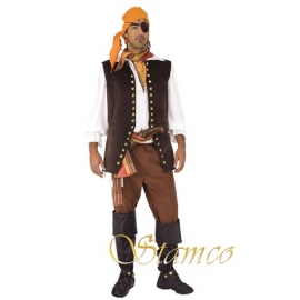 Location costume Pirate manteau long rouge