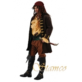 Location costume Pirate cuir marron