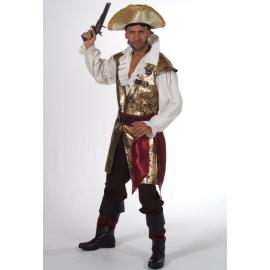 Location costume Pirate noir et or