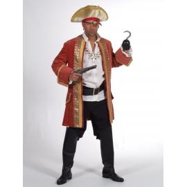 Location costume Pirate luxe vert