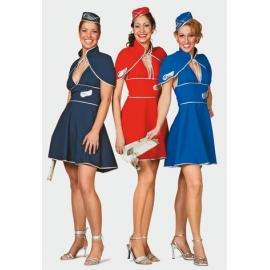 Location costume Hotesse de l'air bleue