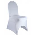 Location housse de chaise en lycra blanc