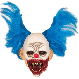 Masque Clown cornes bleues