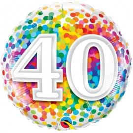 Ballon aluminium 18 ans - 45cm