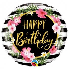 Ballon aluminium Birthday ananas - 45cm