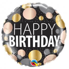 Ballon aluminium Birthday papillons - 45cm