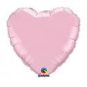 Ballon coeur 45cm pearl pink