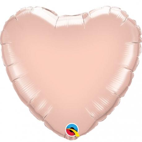 Ballon coeur 45x45cm argent