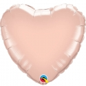 Ballon coeur 45cm rose gold