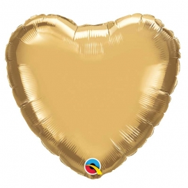Ballon coeur 45cm chrome gold