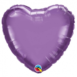Ballon coeur 45cm chrome purple