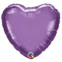 Ballon coeur 45cm chrome purple