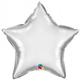 Ballon étoile 50cm chrome silver
