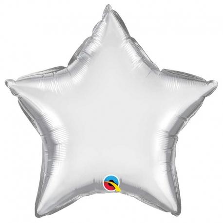 Ballon coeur 55x60cm irisé