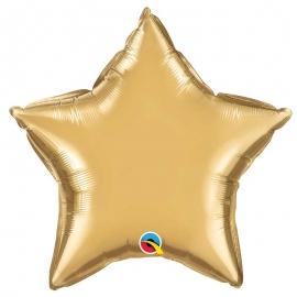 Ballon étoile 50cm chrome gold